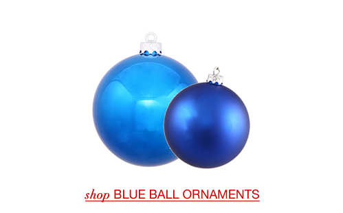 Blue Ball Ornaments