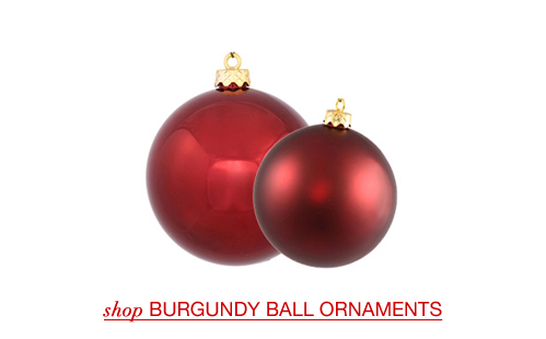 Burgundy Ball Ornaments