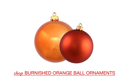 Burnished Orange Ball Ornaments