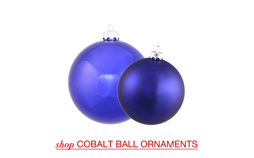 Cobalt Ball Ornaments