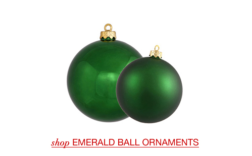 Emerald Ball Ornaments