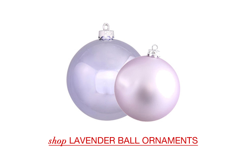 Lavender Ball Ornaments