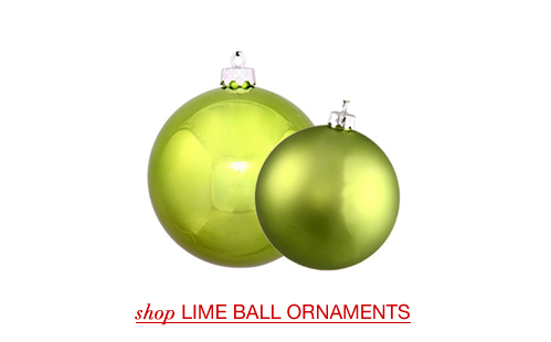 Lime Ball Ornaments