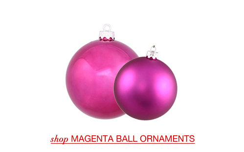 Magenta Ball Ornaments