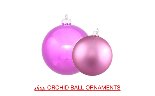 Orchid Ball Ornaments