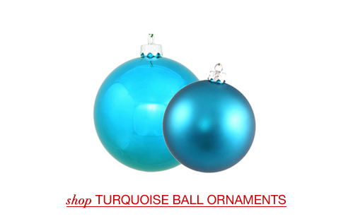 Turquoise Ball Ornaments