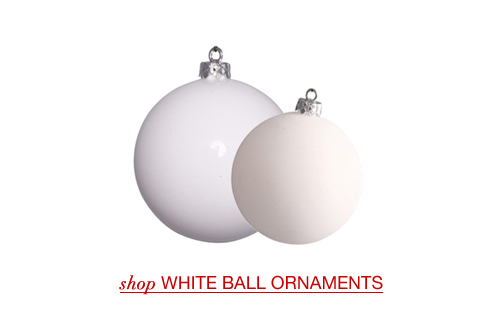 White Ball Ornaments