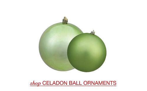 Celadon Christmas Ball Ornaments