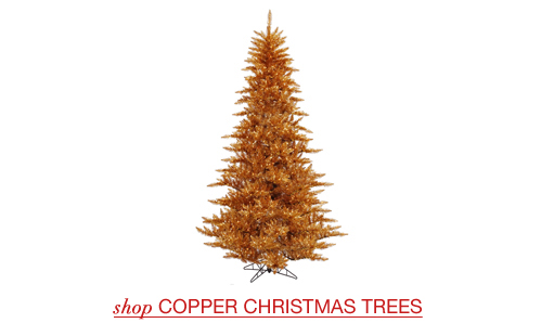 Copper Christmas Trees
