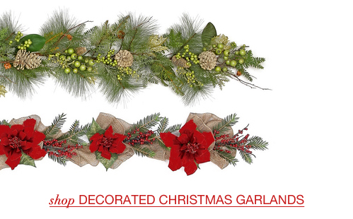 Decorated Christmas Garlands