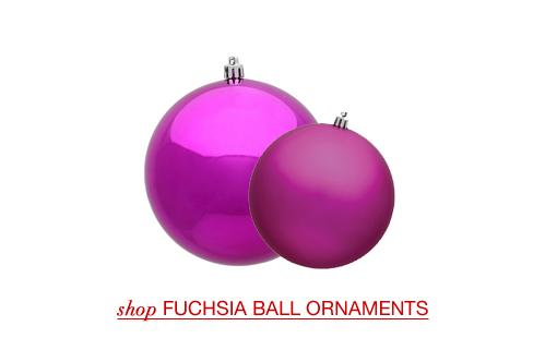 Fuchsia Ball Ornaments