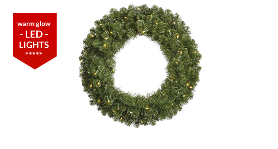 Commercial Giant Christmas Wreaths | Santa's Quarters™