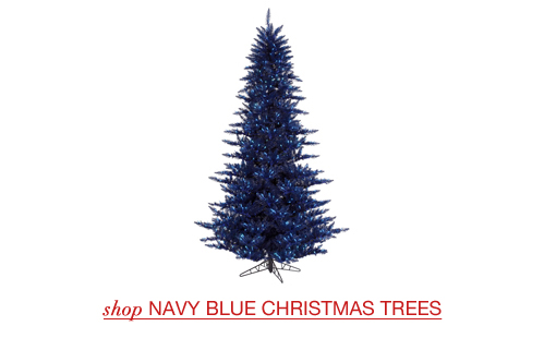 Navy Blue Christmas Trees