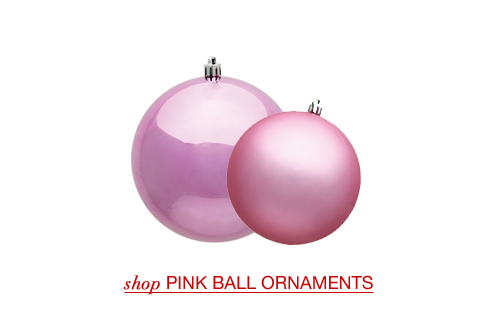 Pink Christmas Ball Ornaments