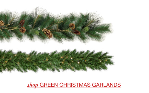Decorated Christmas Garlands; Green Christmas Garlands