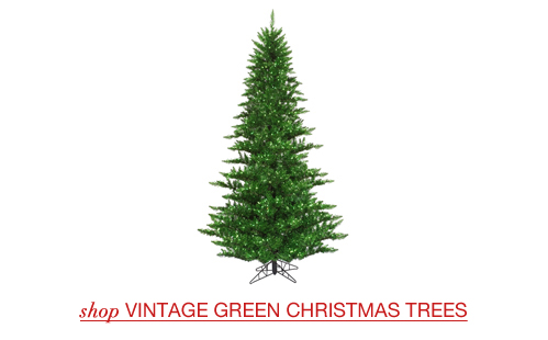 Vintage Green Christmas Trees