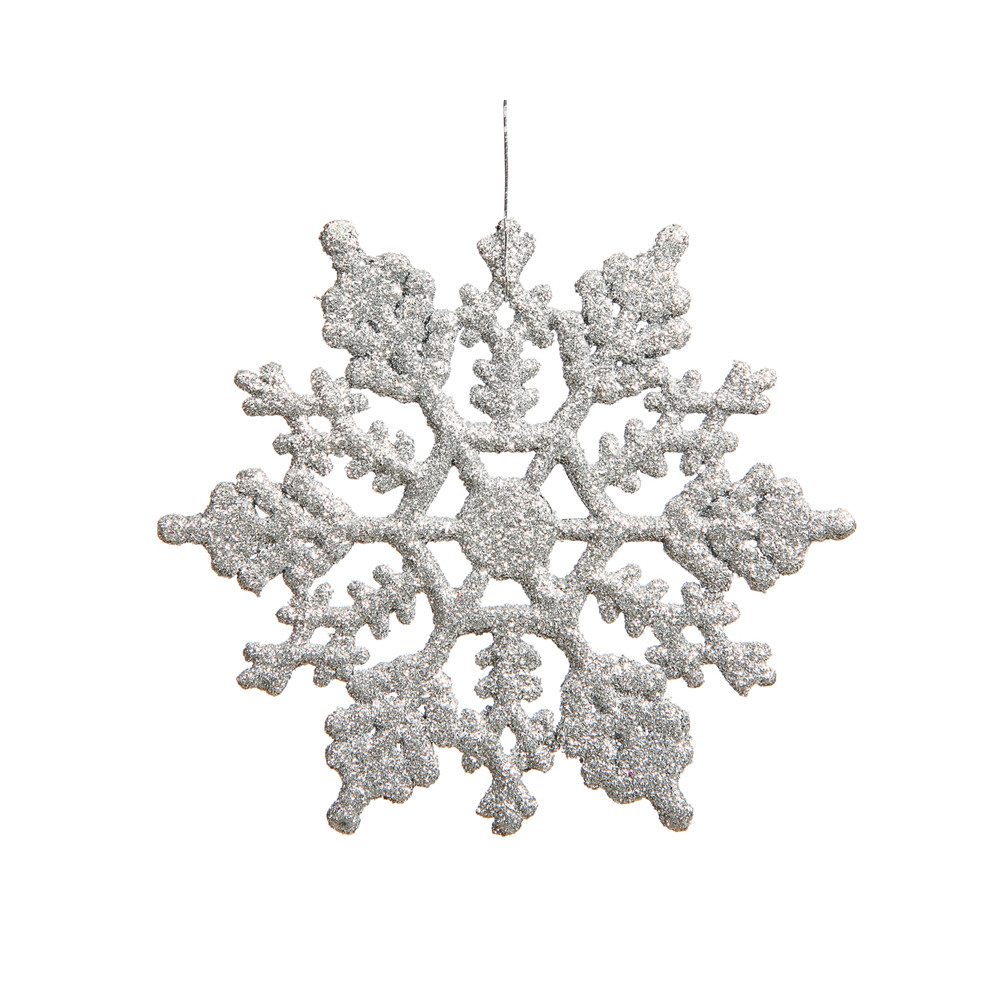 large christmas snowflake ornament set of 12 silver