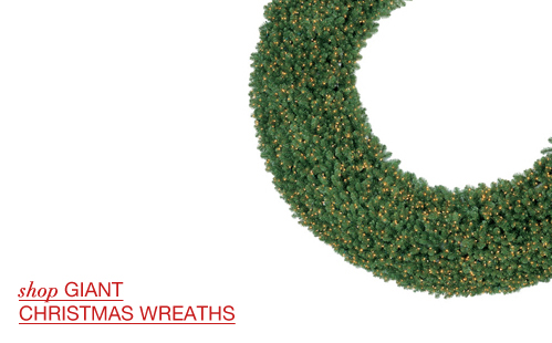 Giant Commercial Christmas Wreaths
