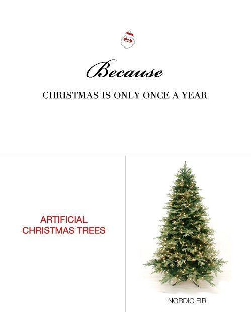 Artificial Christmas Trees & Commercial Christmas Decorations