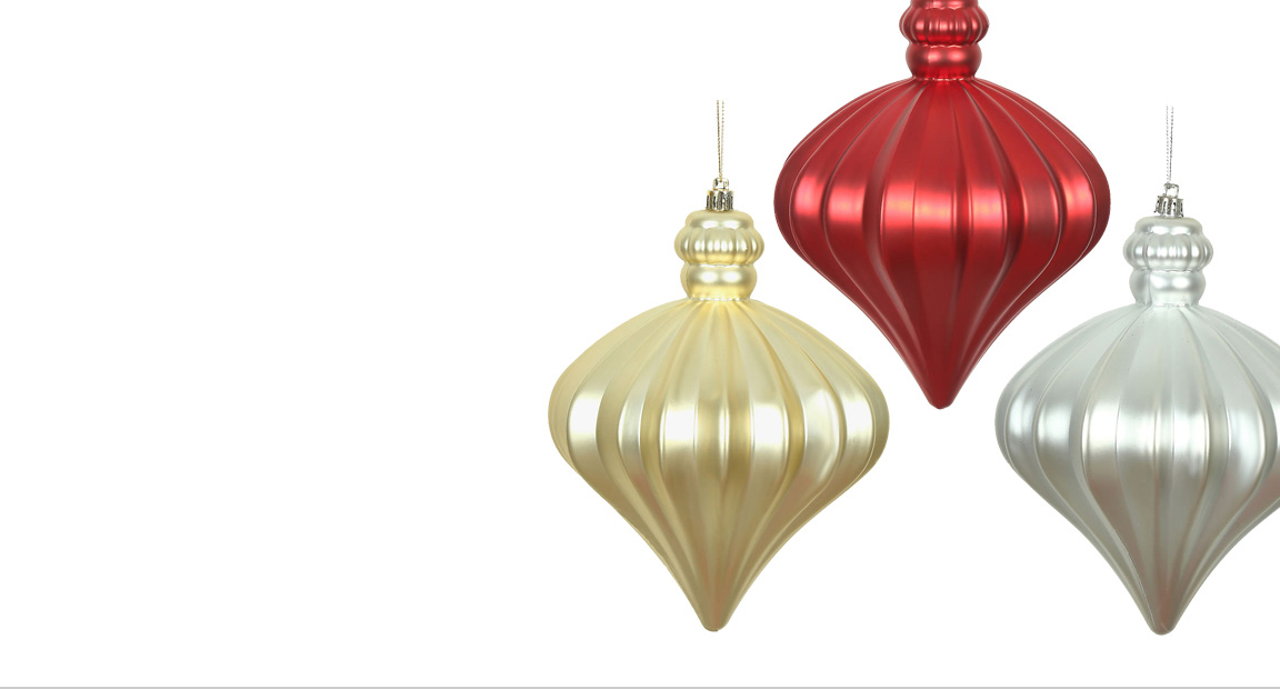 Large Classic Christmas Ornaments