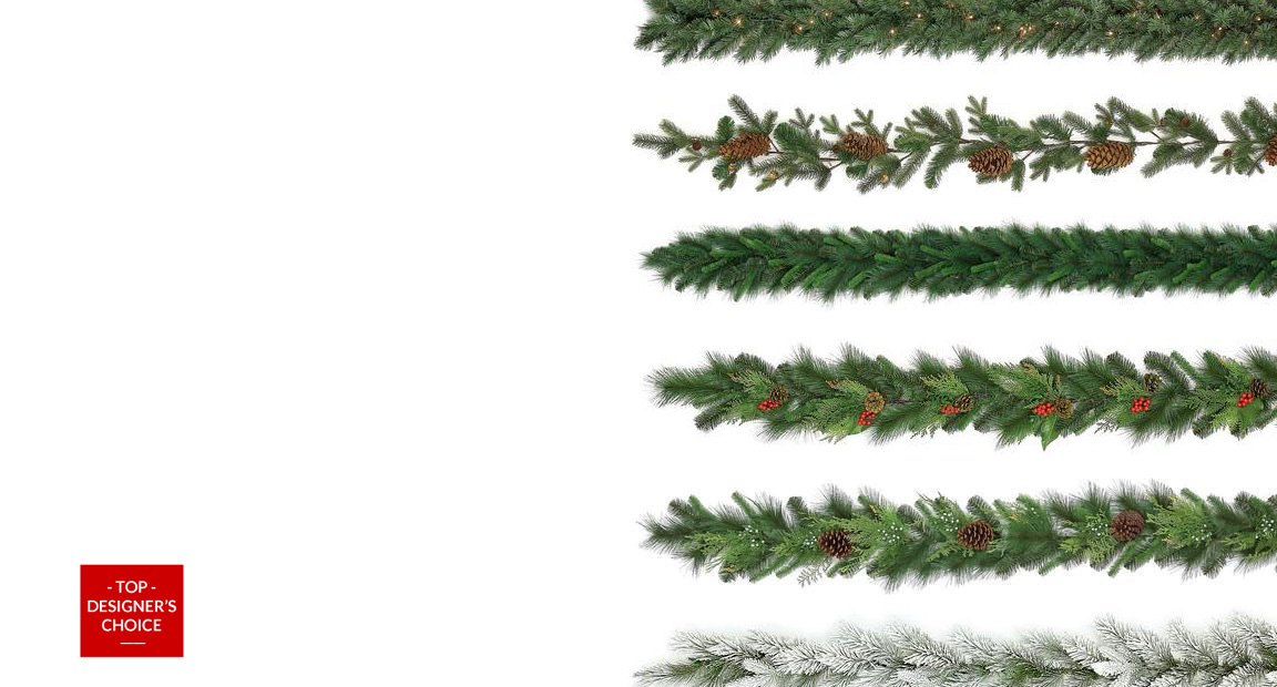 Artificial Christmas Garlands
