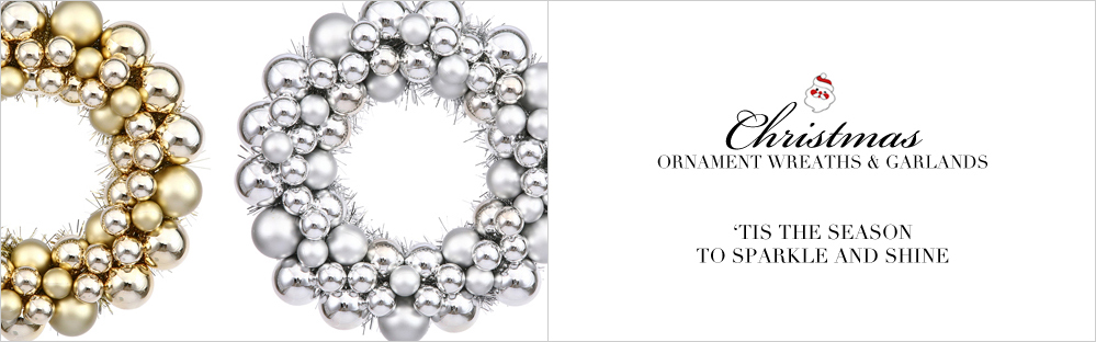 Ball Ornament Wreaths and Garlands
