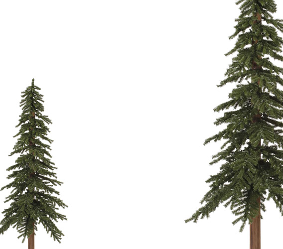 Artificial Alpine Christmas Trees