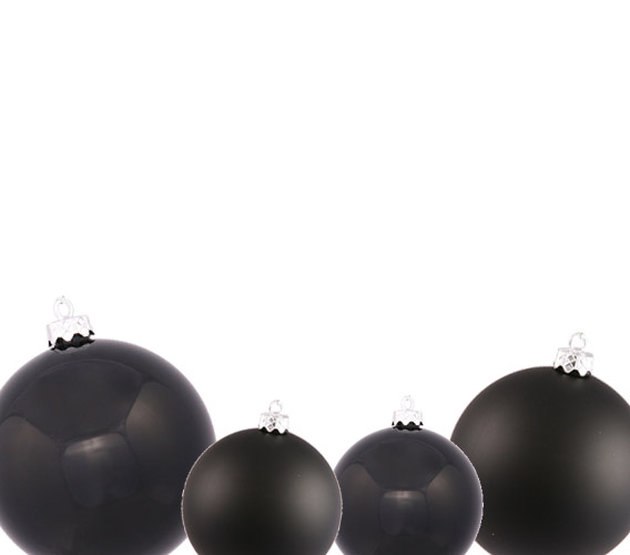 Black Christmas Ball Ornaments