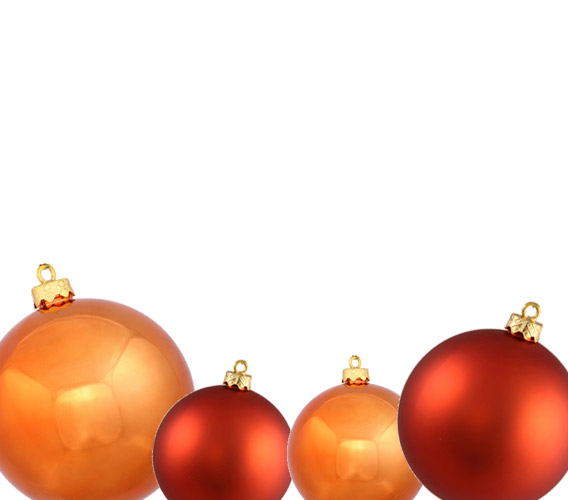 Orange Christmas Ball Ornaments