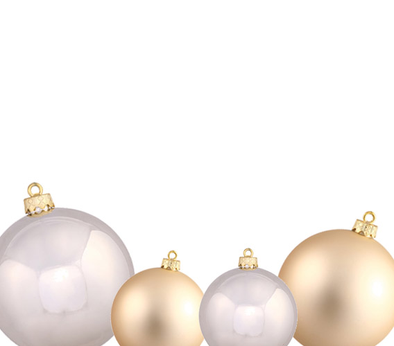 Champagne Christmas Ball Ornaments