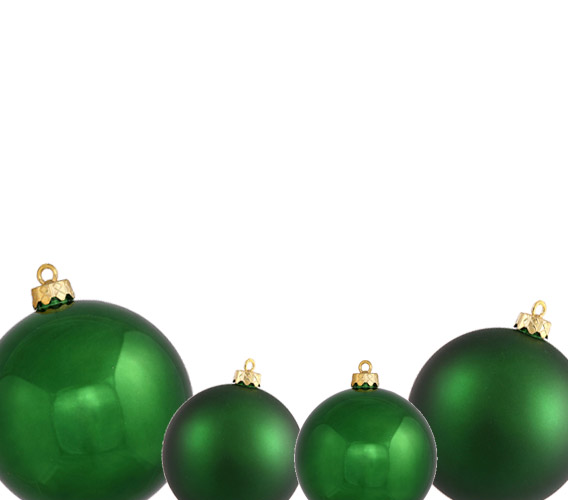 Emerald Christmas Ball Ornaments
