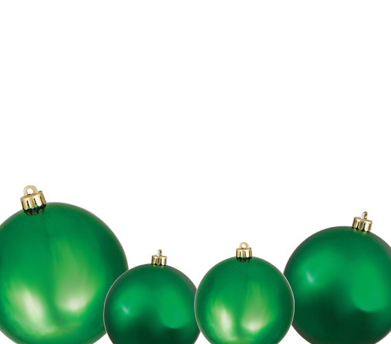 green ball ornaments