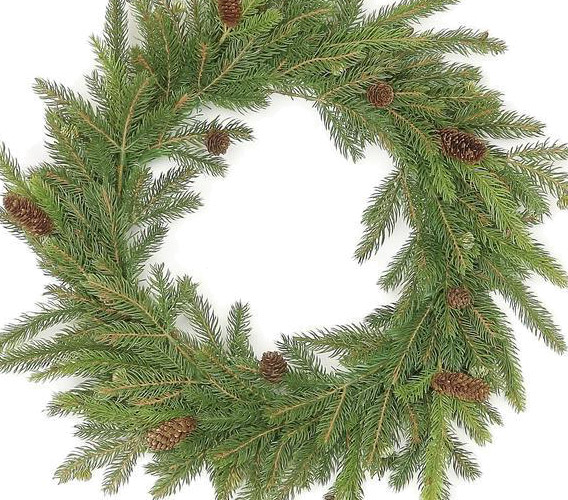 Green Christmas Wreaths