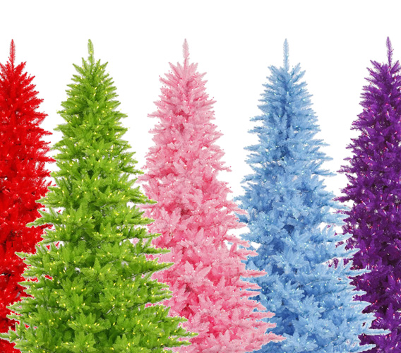 Colored Artificial Christmas Trees