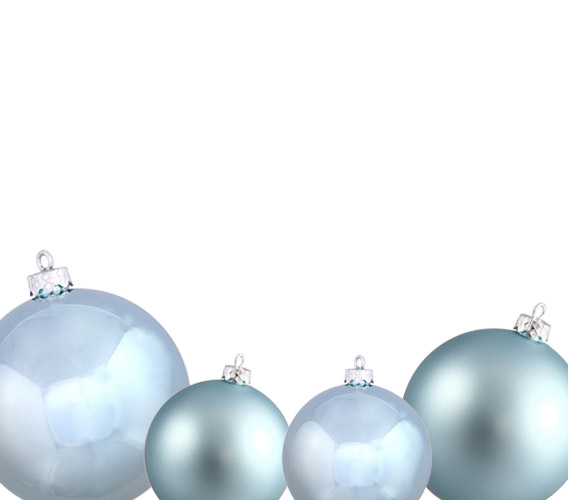 Ice Blue Christmas Ball Ornaments
