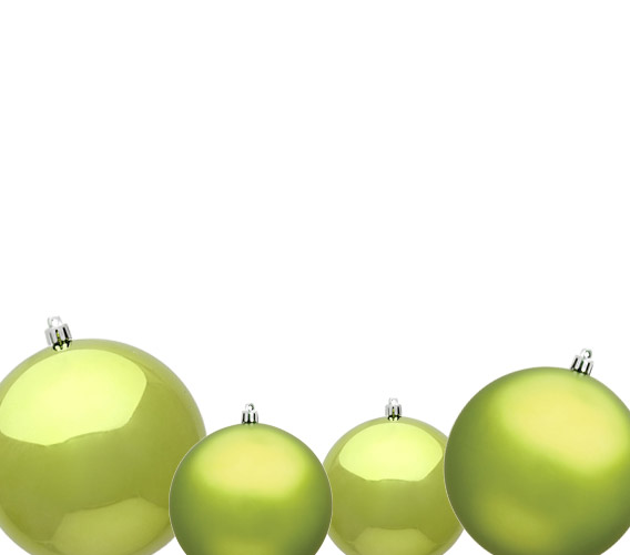 Lime Christmas Ball Ornaments