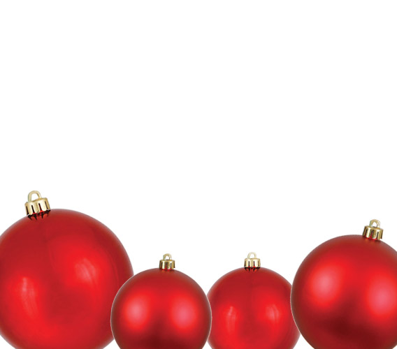 Ball Ornaments - Christmas Ball Ornaments - Shatterproof, Outdoor, & Commercial Grade