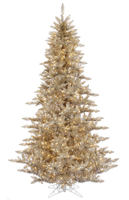 Champagne Colored Christmas Tree