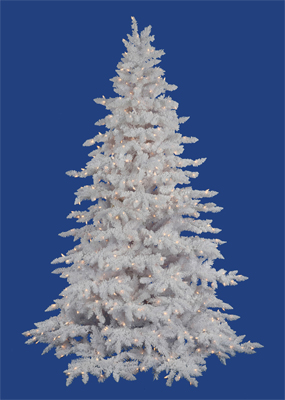 Flocked White Spruce