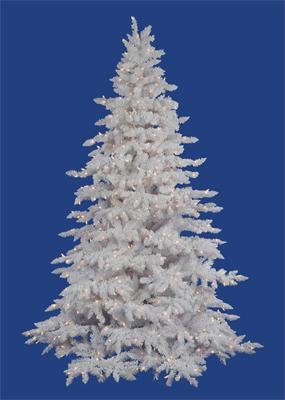 Flocked White Spruce