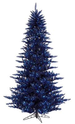 Navy Colored Christmas Tree