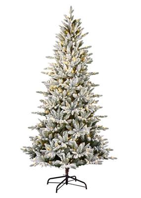 North Pole Flocked Artificial Christmas Tree Santa S