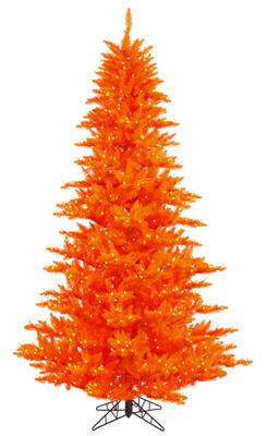orange colored christmas tree - Orange Christmas Tree