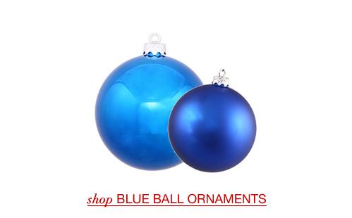 Blue Christmas Ball Ornaments
