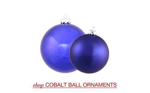 Cobalt Ball Ornaments