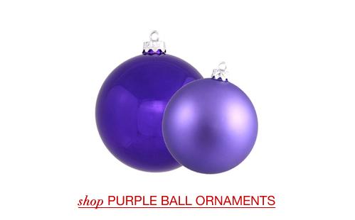 Purple Christmas Ball Ornaments
