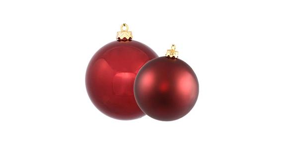 Burgundy Ball Ornaments