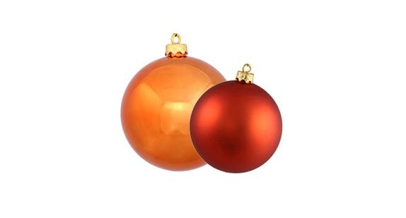 Burnished Orange Ball Ornaments