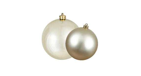 Champagne Colored Christmas Ornaments