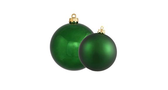 Emerald Ball Ornaments